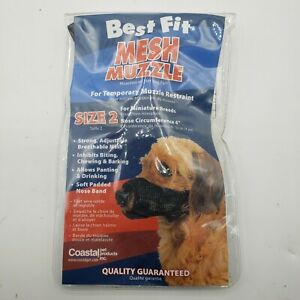 Mesh Muzzle Size 2 - For Minature Breeds For Temporary Muzzle Restraint!