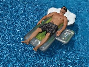 Beer Mug Pool Float Giant Inflatable Raft Swimline 90651 Beach with Drink Cooler