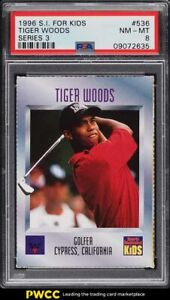 1996 Sports Illustrated For Kids Tiger Woods ROOKIE RC #536 PSA 8 NM-MT