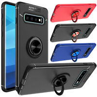 For Samsung Galaxy S10/S10+/Plus/S10e Shockproof Ring Kickstand Armor Case Cover