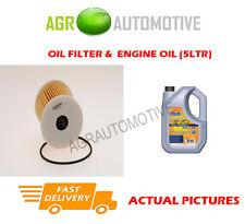 DIESEL OIL FILTER + LL 5W30 ENGINE OIL FOR NISSAN PRIMERA 2.2 126 BHP 2002-03