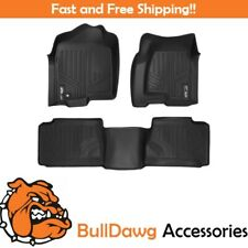 SMARTLINER Floor Mats Liner Full Set for Silverado / Sierra Extended Cab Black