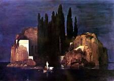 I morti isola Arnold Böcklin barca a remi rocce cipressi fittizio H a3 0088