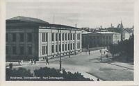 NORWAY 1910 superb mint postcard KRISTIANIA (OSLO) University, Karl Johansgate