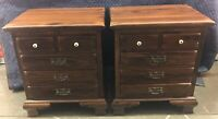 Ethan Allen Nightstands Old Tavern Antiqued Pine Cabinet End Table 12 5016 PAIR