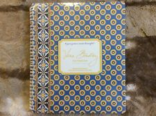 Vera Bradley RIVIERA BLUE Notebook New in Package Retired 2009