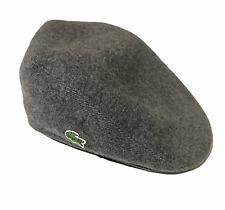 Men's Lacoste Grey Wool Flat Cap