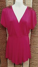 NEXT BNWT Ladies Pink Jersey Beaded Short Sleeve Playsuit Size 10