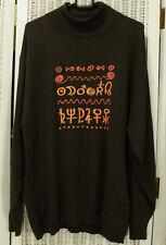 "CRISCA Vintage Zodiac Jumper  44"" Chest Metallic Astrology Horoscope Sweater"