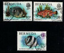 Bermuda 1978 Wildlife 20c, 25c, 50c Used