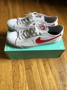 Nike SB Blazer Court CV1658-100 Mens Size 11 - New - White/Red- Sold Out