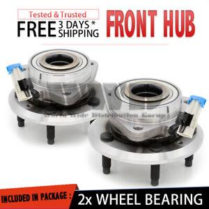 2x 513276 Front Wheel Hub Bearing Stud ABS For 2007-2009 Pontiac Torrent {Pair}