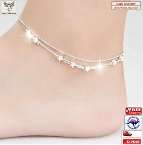 Fashion Beautiful Women Double Chain Anklet Barefoot Beach Jewelry [A2S~B31]