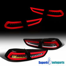 08-17 Mitsubishi Lancer/ Evolution Red Full LED DRL Brake Lamps Tail Lights Pair