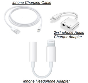 For iPhone iOS 7 8 X 11 12 3.5mm Headphone Jack Audio AUX Splitter Adapter Cable