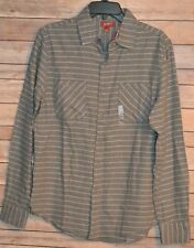 MEN`S WESTERN FLANNEL SHIRT SIZE: S COLOR: GRAY W/ STRIPES by ARIZONA JEANS