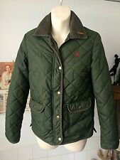 Cordings of Piccadilly for Jack Wills green quilted warm jacket ~ sized as UK 8