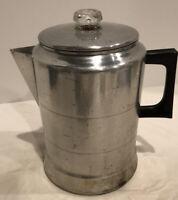 Vintage COMET Aluminum Stovetop Camping Percolator Coffee Pot USA