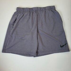 Nike Men Shorts Dri Fit Training Bottoms Gray Large Pockets