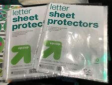 Up & Up Letter Sheet Protectors (2) 10 Packs Never Used