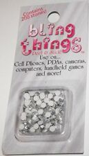 White Stones Cell Phone Jewelry BLING THING STICKERS MAKE YOUR OWN DECAL BBS500