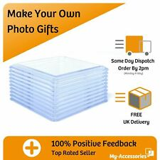 More details for photo drinks coaster round square blank clear acrylic insert your own image diy