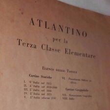 ATLANTINO PER LA TERZA CLASSE ELEMENTARE La Libreria dello Stato 1934 Scuola di