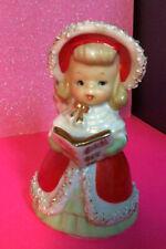 Vintage Lefton Angel Bell Figurines Spaghetti Christmas Hymn Book