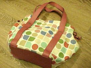 Ladies Kate Spade Canvas Polka Dot Shoulder Bag