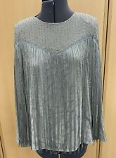 Ladies River Island Silver 1920s Flapper Style Top Uk10 BNWT (Hospiscare)