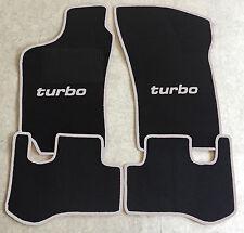 Autoteppich Fußmatten für Fiat Coupe 16V + 20V + Turbo 1993-00' schw silber Neu