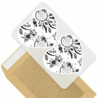 SK00000549 24 x 40mm Round /'Feather/' Stickers