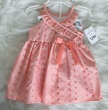 BonnieBaby Girl Dress 12 Months Coral Fancy 2-piece Dress & Shorts