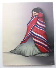 RARE ORIGINAL RC GORMAN LITHOGRAPH PRINT TAOS SHADOWS WOMAN SIGNED X/X 1983