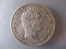 FRANCIA LUIS FELIPE I 5 FRANCS 1830 W LILLE TIPO CON I CANTO EN INCUSO