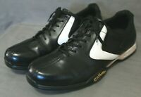 CALLAWAY mens golf shoes size 12 M black & white leather upper 11 inch insole