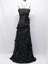 Cherlone Black Ballgown Wedding Evening Bridesmaid Formal Full Length Dress 14