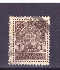 FRANCOBOLLI Luogotenenza Recapito Autorizzato - 1946 1 Lira SAS7