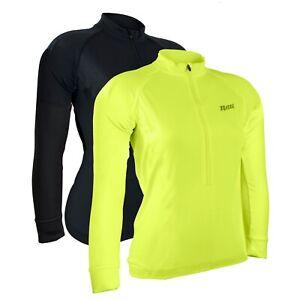 Netti Sunshield Long Sleeve Womens Cycling Jersey UV Protection - Black, Yellow