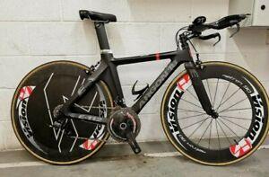 Argon 18 E112 Carbon TT/TRIATHLON/IRONMAN Bike, Vision Aero Wheelset - £5800