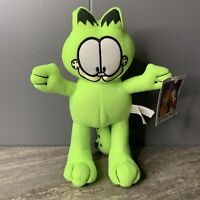 """New GARFIELD & Odie Plush Fluorescent Yellow Green Toy Factory Stuffed Doll 9"""""""