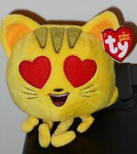 Ty Beanie Baby Babies ~ Cat With Heart Eyes From Emoji Movie ~ 2017 New ~In Hand