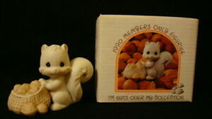 Precious Moments-Squirrel With Basket Of Nuts-I'm Nuts Over My Collection