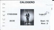 Ticket Concert: Calogero (17/5/2008) Loge Forest National Bruxelles