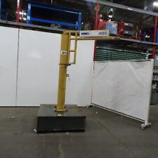 14 Ton Free Standing Jib Crane 96 Under Beam 60 Swing 36 Trolley Travel
