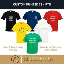 Personalised Custom Printed T-Shirt Unisex Event Hen Stag Company Logo