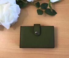 Coach F68393 Glove Tanned Leather Accordion Card Case Wallet Green