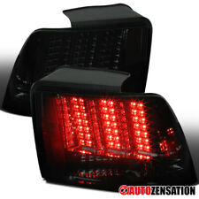 For 1999-2004 Ford Mustang Sequential LED Smoke Tail Lights Brake Lamps Pair