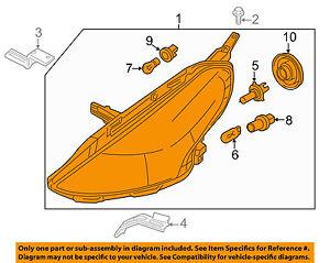 NISSAN OEM 15-16 Versa-Headlight-Head light Headlamp Assy Left 260609KK0A