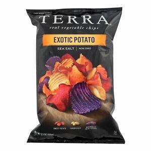 Terra Chips Exotic Potato Chips Sea Salt - Case Of 12 - 5.5 Oz.